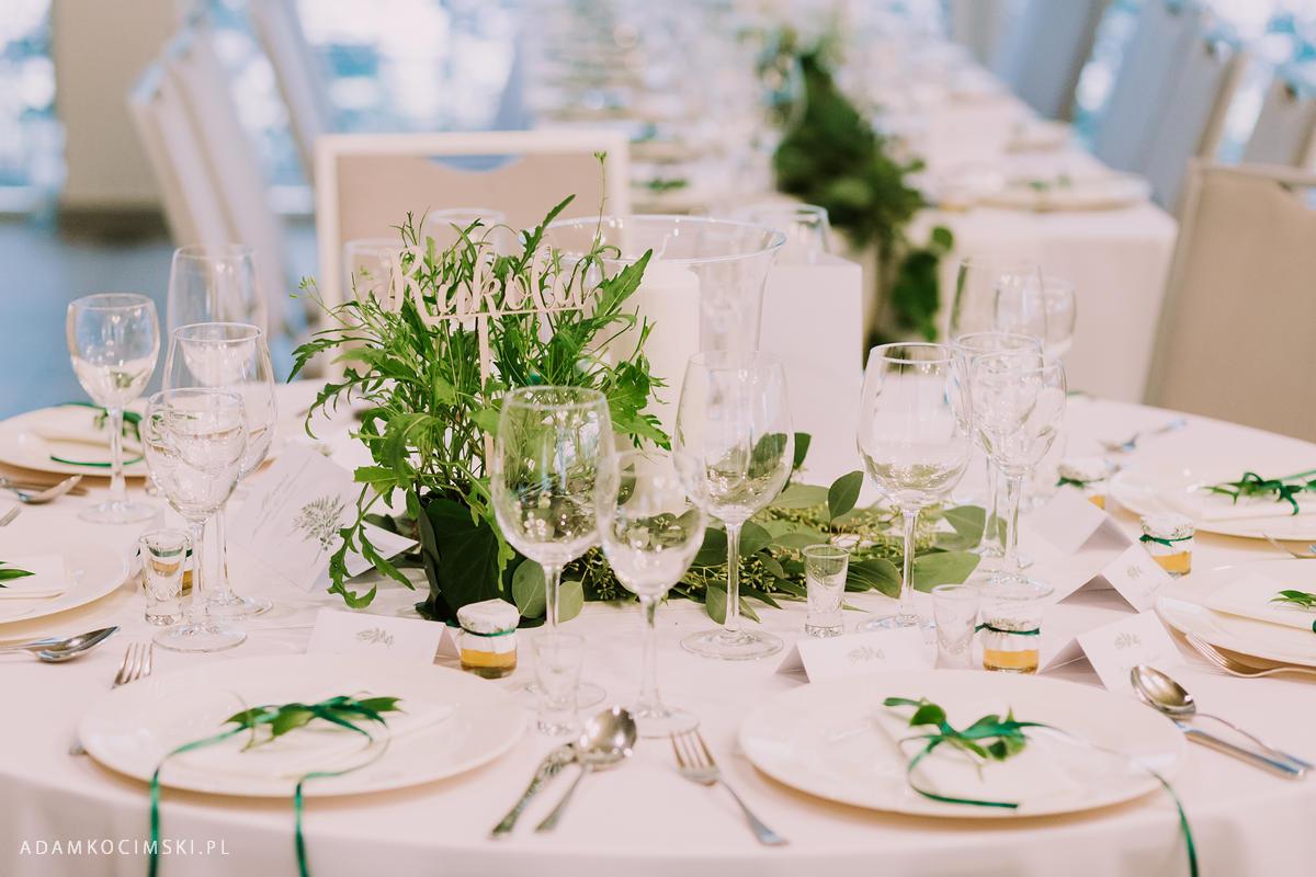 dekoracja ślubna zioła