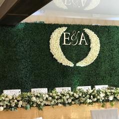 Ściana z zielonego sztucznego bukszpanu