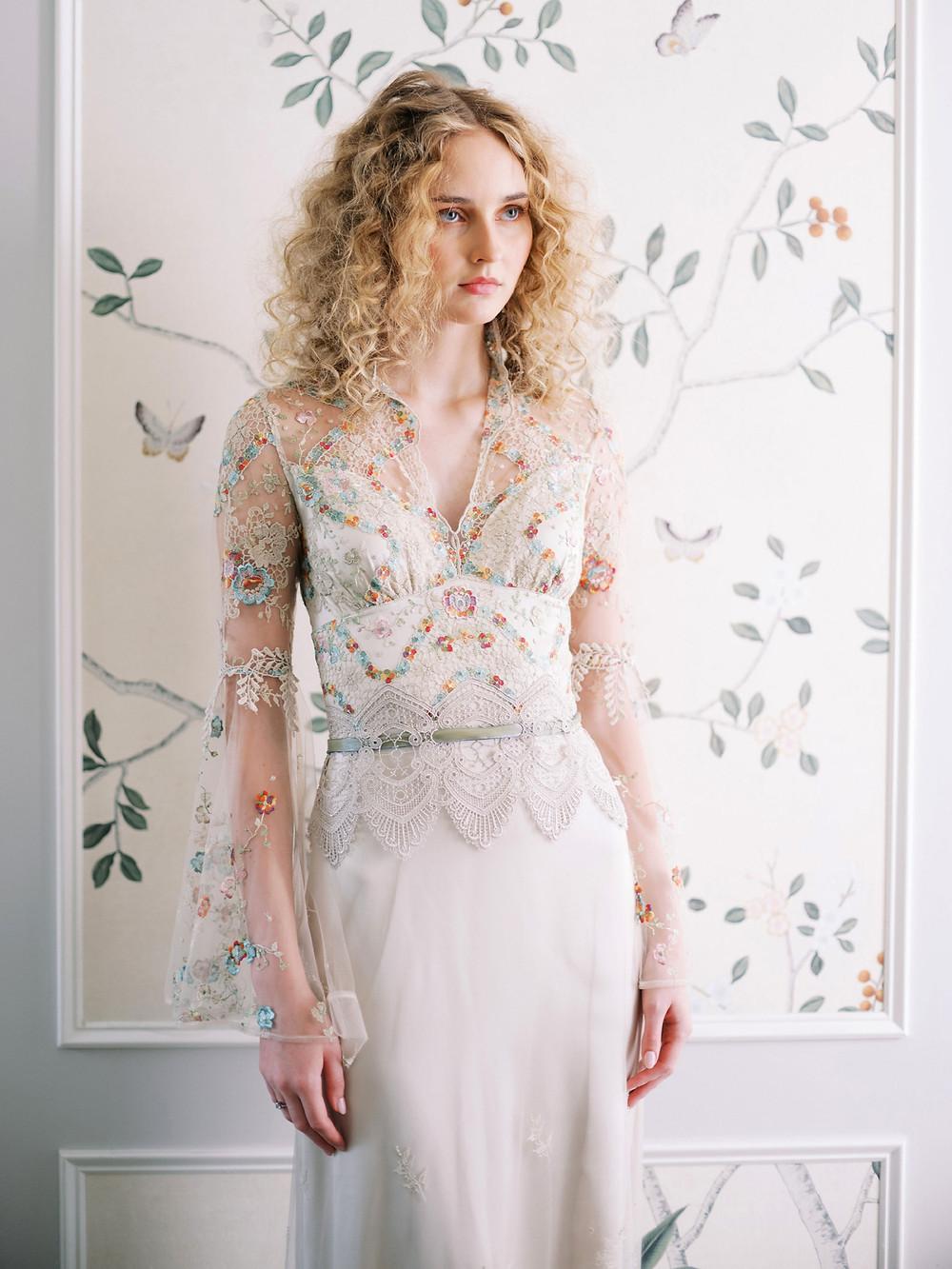 Suknia ślubna 2020 w kwiaty