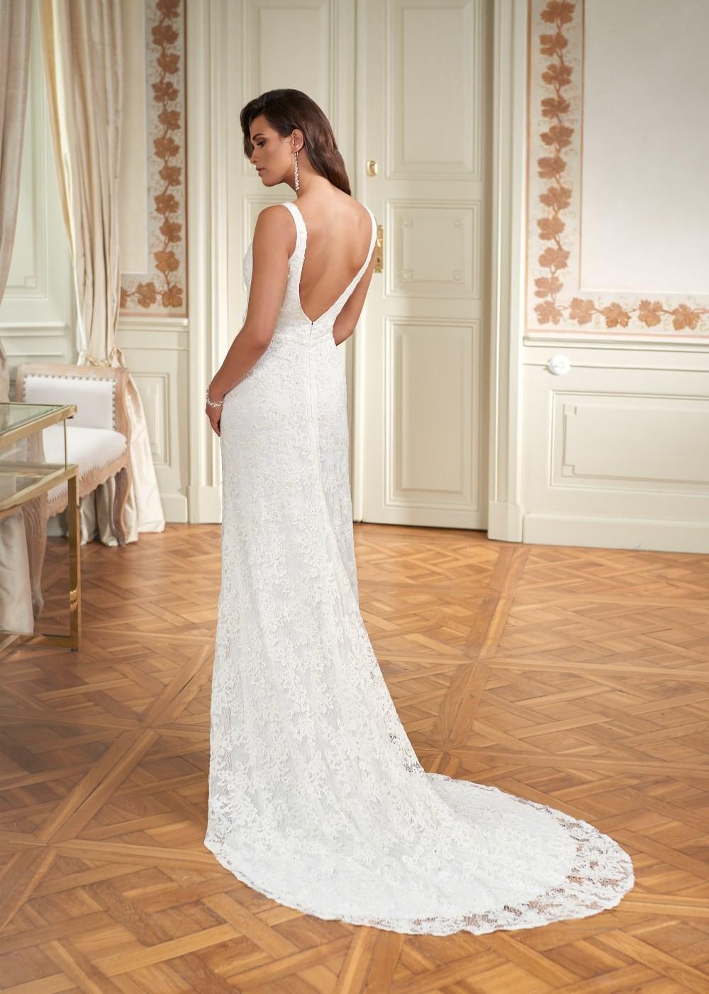 Suknia ślubna Margarett - COLLEZIONE CRISTALLO Celeste