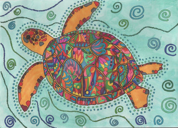Turtle colouring page