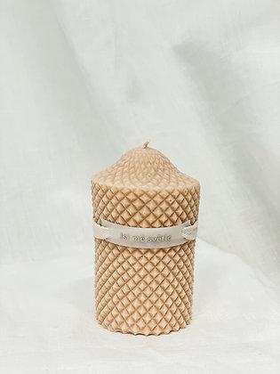Přírodní svíčka válec - pudrová