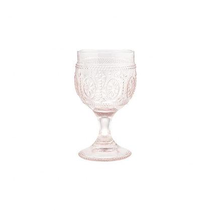 Sklenička na červené víno - růžová