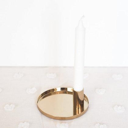 Svícen s táckem - zlatý