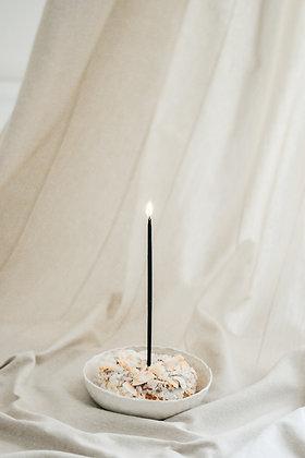 Přírodní dortové svíčky - černé / sada 10 ks