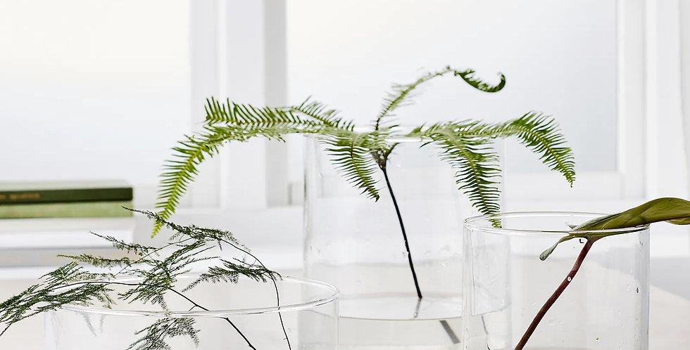 Váza čirá / set 3 ks