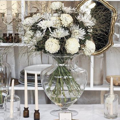 Skleněná váza ozdobná - široká