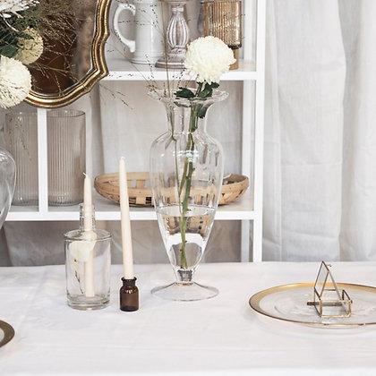 Skleněná váza ozdobná - úzká