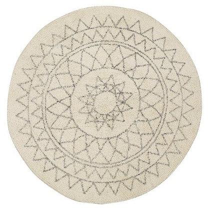 Kulatý koberec se vzorem