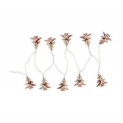 Světelný řetěz Serge - měděné stromečky