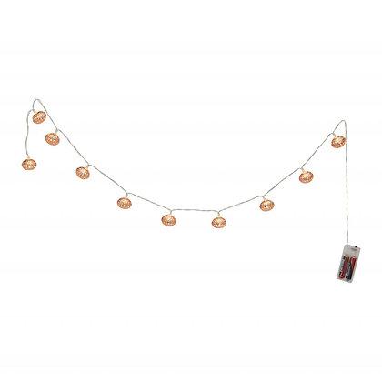 Světelný řetěz Marlon - měděné ozdoby