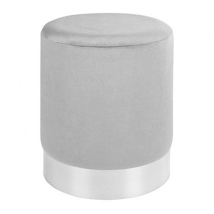 Taburet - šedý se stříbrným pruhem