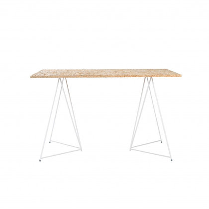 Stůl - překližkové prkno - bílé nohy - Master & Master