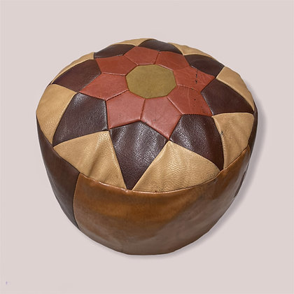 Kožený marocký taburet