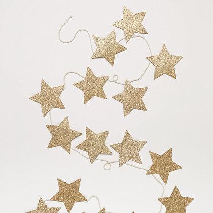 Girlanda - třpytivé hvězdičky