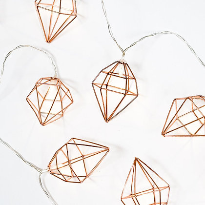 Světelný geometrický řetěz - měděný