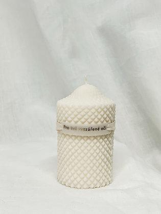 Přírodní svíčka válec - bílá