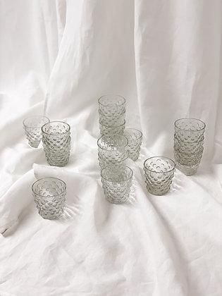 Čirý svícen s bublinkami / set 17 ks