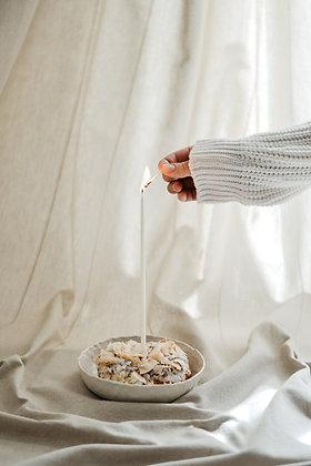 Přírodní dortové svíčky - bílé / sada 10 ks
