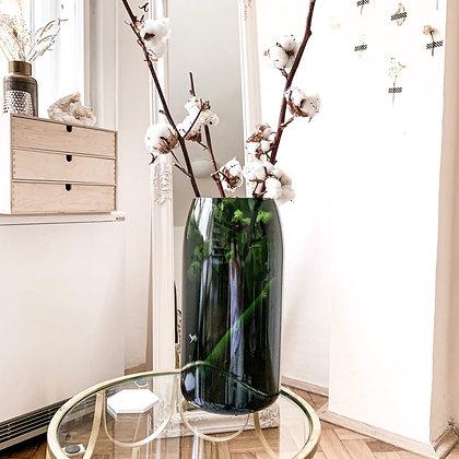 Velká skleněná váza Srna - zelená