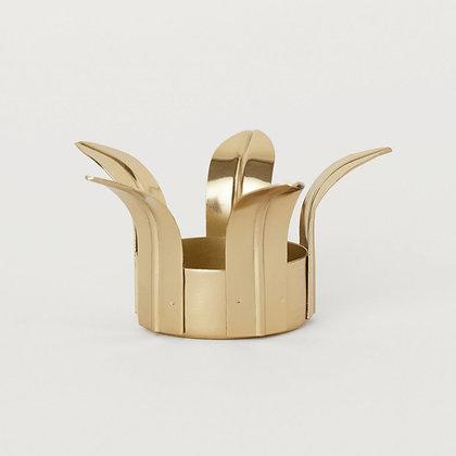 Svícen na čajovou svíčku - zlatý květ