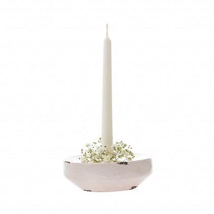 Nízký porcelánový svícen
