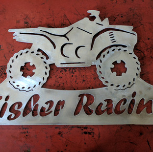 Fisher Racing Sign