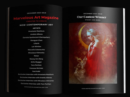 Publication with Interview at Marvelous Art Magazine December Issue