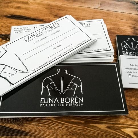 Elina Bóren - lahjakortit ja käyntikortit
