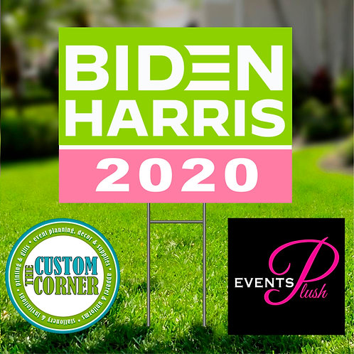 Pink & Green 2020 Yard Sign