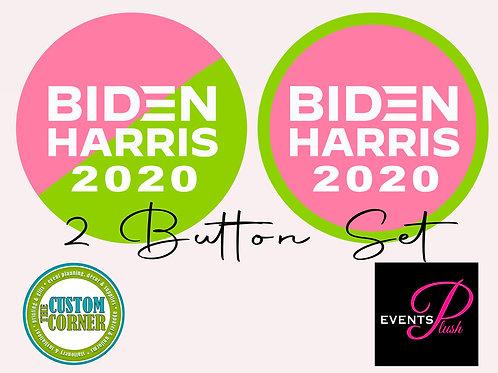 Pink & Green 2020 2 Button Set