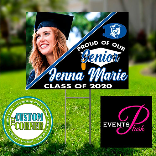 Graduation Yard Sign with Picture