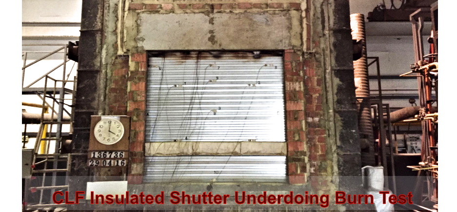 Insulated Shutter Burn Test