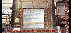 Insulated Shutter Burn Test