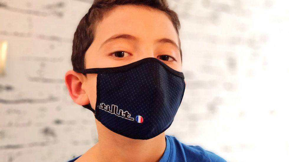 Masques TilliT MIF Adultes/Kids : Point Noir/Fond Bleu