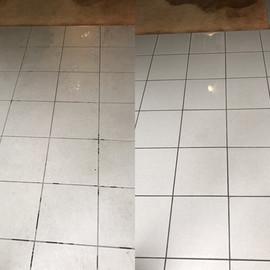 Nettoyage des sols avant/après
