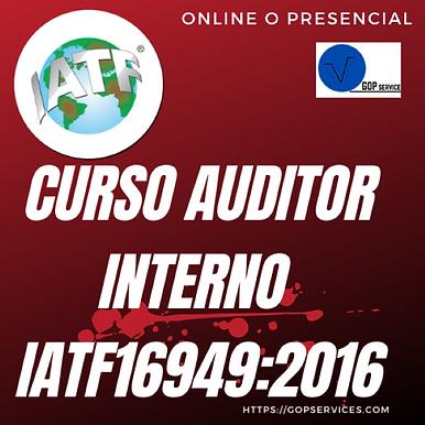AUDITOR INTERNO IATF16949