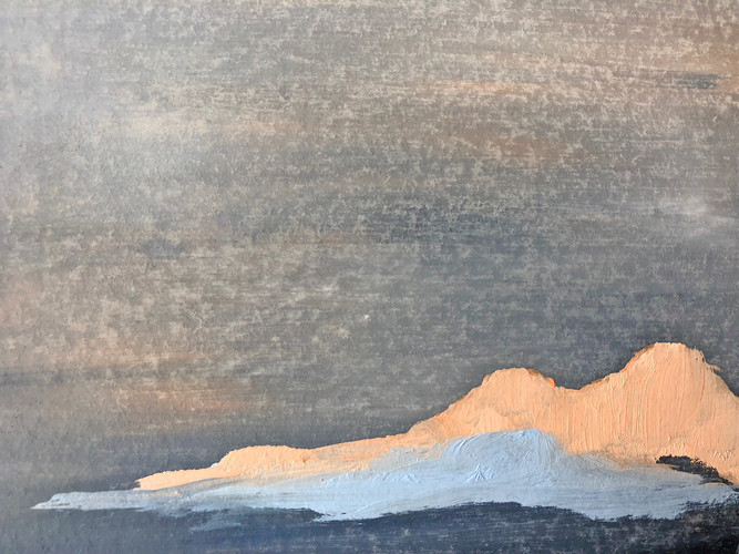untitled headlands, oil on board 2019