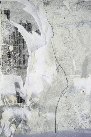 sketchbook page, image transfer and emulsion