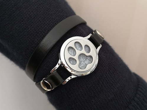Paw Print on Faux Leather