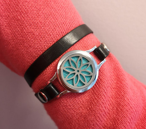 Flower on Faux Leather