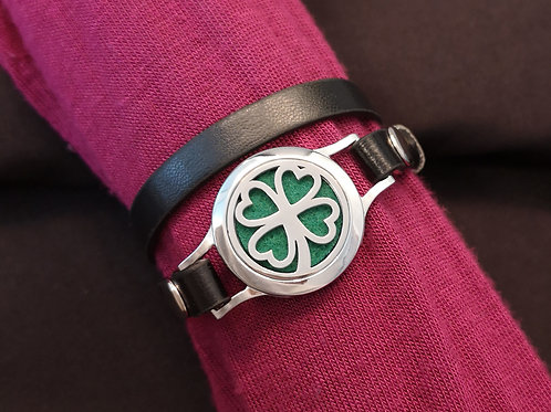 Four-Leaf Clover on Faux Leather