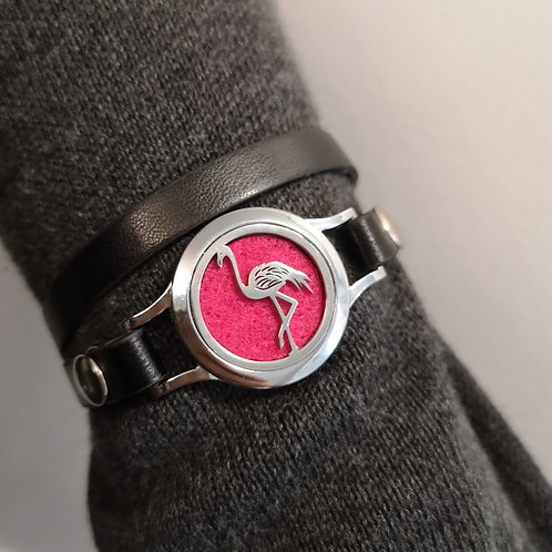Flamingo on Faux Leather