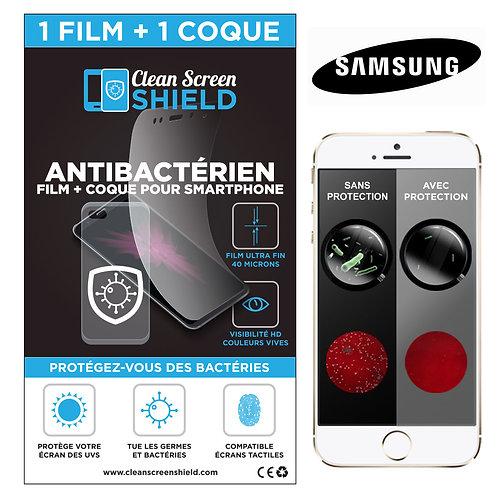 Protection Antibactérienne pour Samsung - CleanScreenShield