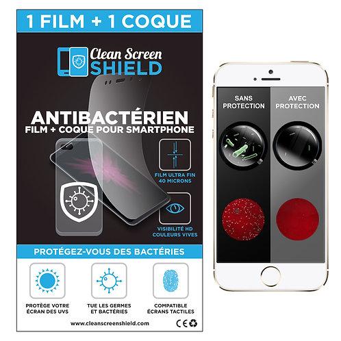 CleanScreenShield - Protection Antibactérienne pour iPhone et Samsung