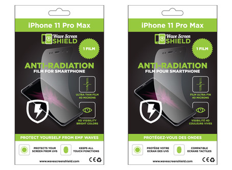 Introducing our range of packagings designs for our anti-radiations films for smartphones