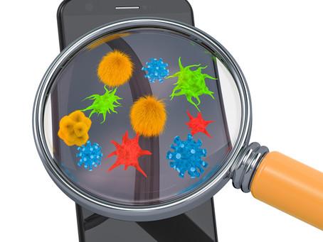 il y a plus de 7.000 types de bactéries présentes sur votre téléphone portable