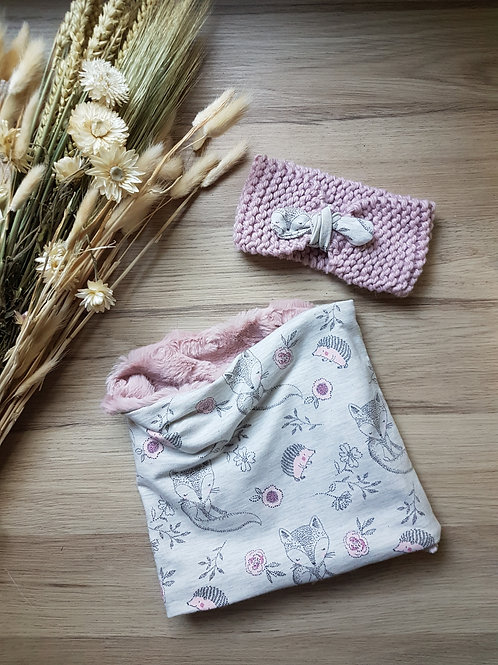 Duo bandeau +snood Camille