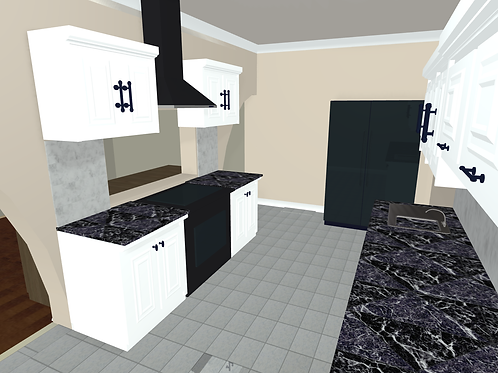 Digital Download: Kitchen w/ Dinning Room Attachment