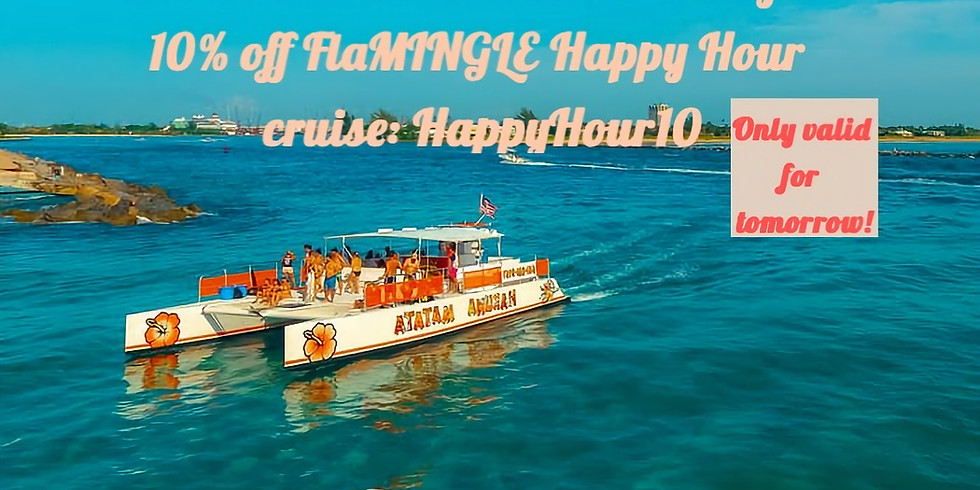 10% OFF FlaMINGLE Happy Hour Cruise